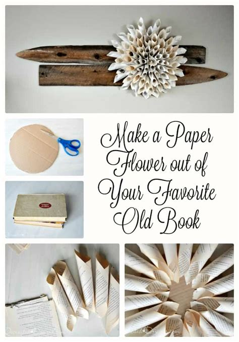How To Make Paper Flowers Out Of Book Pages - how to make paper flowers out of book pages 28 images