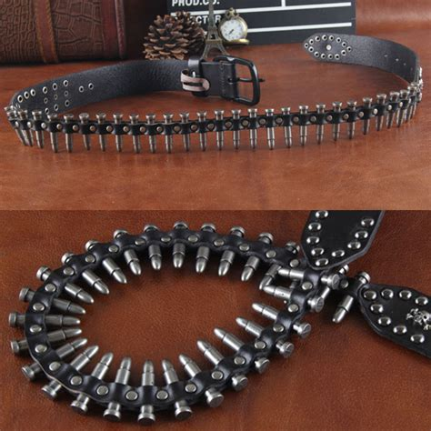 Gelang Korea China White Rivet Layer Pu Korean Fashion get cheap leather bullet belt aliexpress