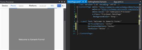 xamarin layout parameters xamarin forms visual previewer xamarin help