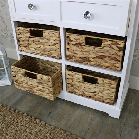 White Wicker Bathroom Drawers by White Wood Wicker 6 Drawer Basket Chest Of Drawers Bedroom