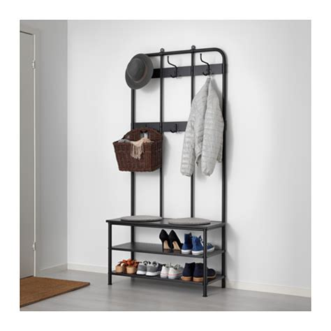 ikea coat rack wall pinnig coat rack with shoe storage bench black 193 cm ikea
