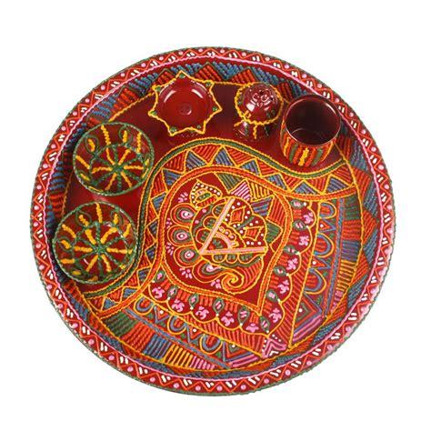 decorative aarti thali online decorative pooja thali online shopping 1