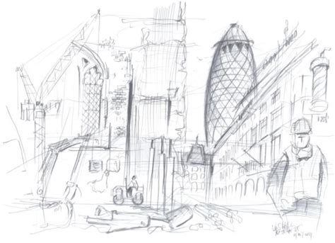 Architecture Drawing Artists 10 X 10 Artists And Architects Draw The City