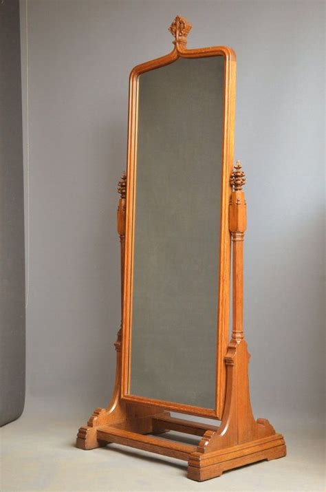 unusual mirrors unusual victorian oak cheval mirror 260862