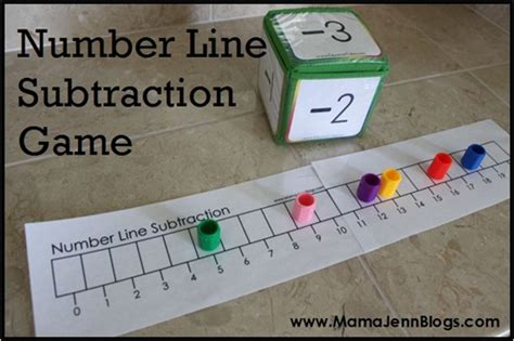 printable number line math games subtraction worksheets 187 number line subtraction