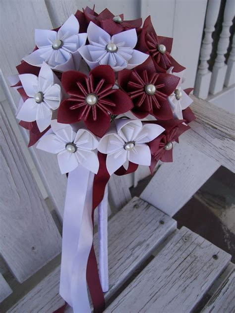 Origami Flowers For Wedding - beautiful bridal origami flower bouquets