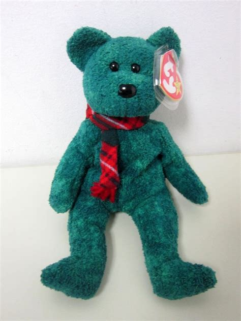 ty beanie baby bear wallace  single flap tush tag