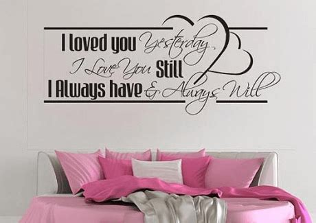 romantic wall stickers for bedrooms 10 most romantic wall decal love quotes for your bedroom