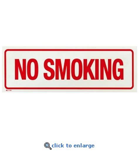 bar equipment no smoking signs adhesive no smoking 12 quot x 4 quot no smoking sign adhesive vinyl red on white