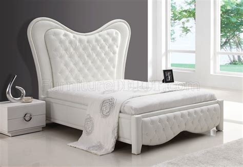 white leather tufted headboard