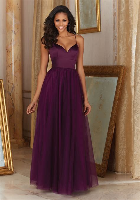 Bridesmaid Dress satin and tulle bridesmaid dress style 153 morilee