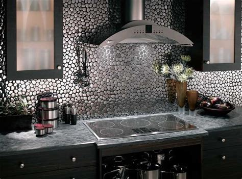 metal contemporary kitchen backsplash ideas modern kitchens