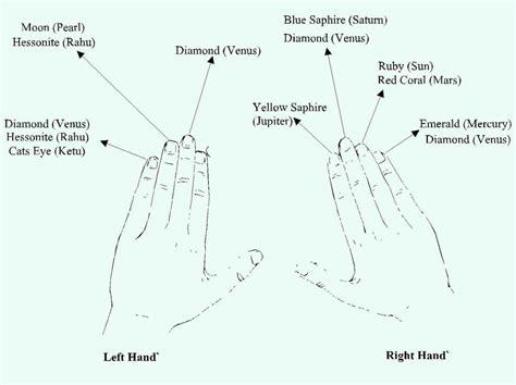 finger diagram ring finger chart