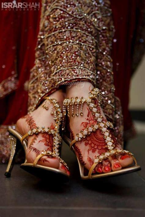 Bridal Footwear by Bridal Footwear With Bold Stones Indian Wedding