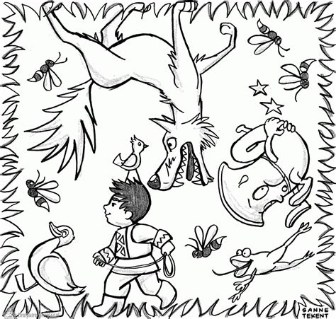 free coloring pages of peter and the wolf