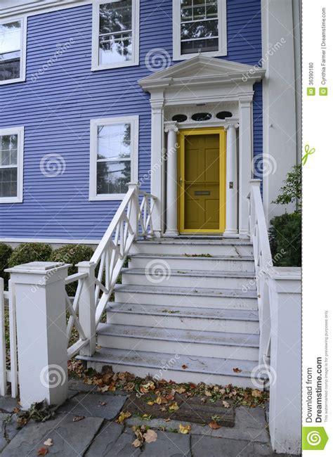 blue house yellow door blue house with yellow door stock photo image 36390180