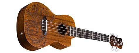 uke tattoo mahogany concert w preamp luna guitars