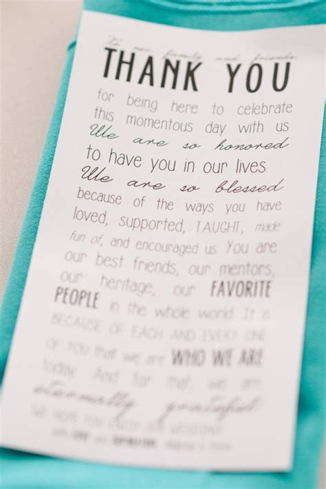 thank you letter wedding instant quot to our family and friends quot thank you