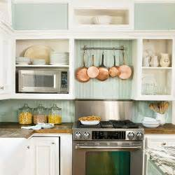 Beadboard Backsplash Kitchen by Open Kitchen Shelving Tips And Inspiration