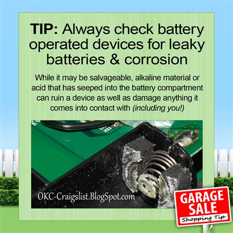 Craigslist Mi Garage Sales by Garage Sale Tip How To Buy Battery Operated Devices
