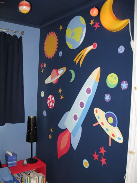 Kids Bedroom Painting Ideas outer space themed bedroom for young boys