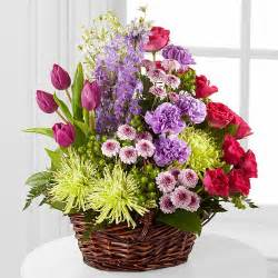 Flower Baskets For Funerals - funeral flowers hand delivered with care same day delivery