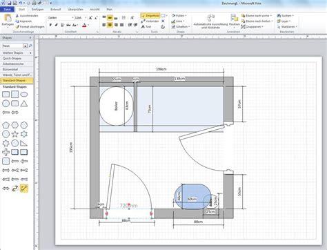 Floor Plan Template badplan grundriss mit visio erstellt programmierer