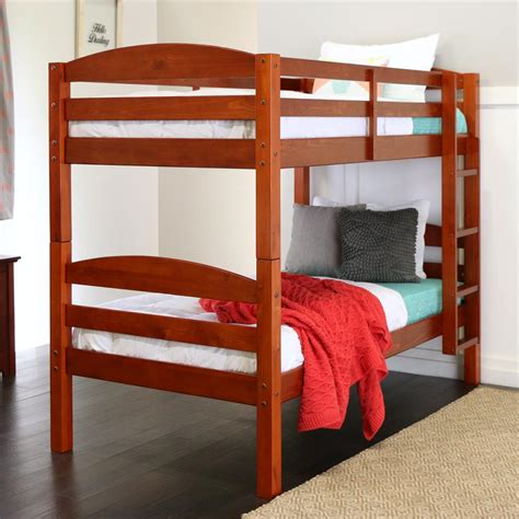 bunk bed wood walker edison furniture company carolina twin over twin wood bunk bed bwstotch the