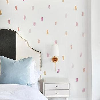 black and white striped headboard girl s room design decor photos pictures ideas