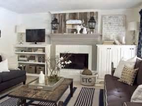 Rustic chic living room interior design pinterest fireplaces