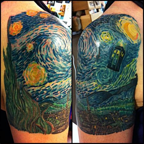 night tattoos starry tardis www pixshark images