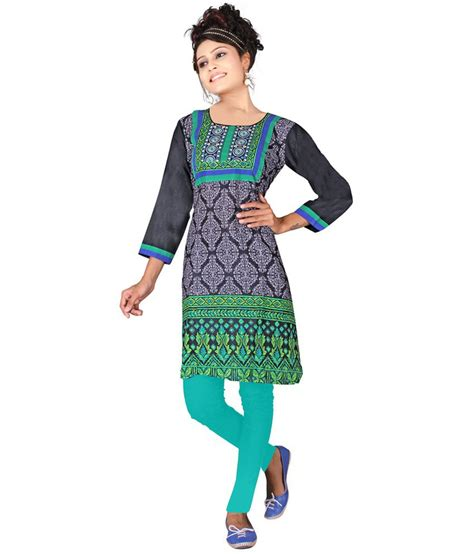 Forrest Printed Casual surat tex casual wear printed forest green cotton kurti