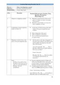Dod Sop Template by Sop Template Exle Pictures To Pin On