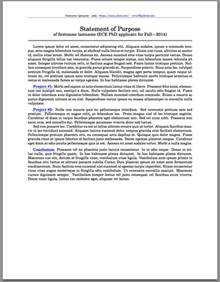 Graduate School Essay Font by Templates Coding For Statement Of Purpose Tex Stack Exchange