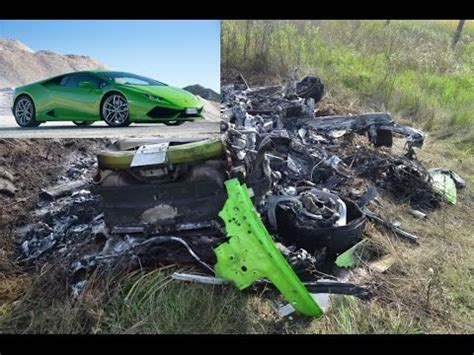 fatal lamborghini crash lamborghini huracan crash at 300 km h youtube