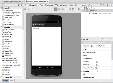 android studio set layout landscape creating an exle android app in android studio techotopia