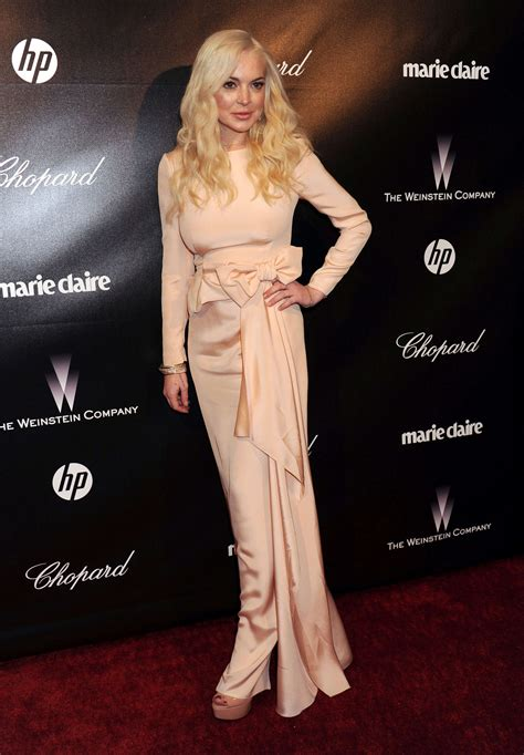 Lindsay Lohan Golden by Lindsay Lohan The Weinstein Company Golden Globe