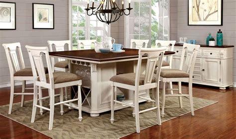 sabrina  tone whitecherry counter height dining room set