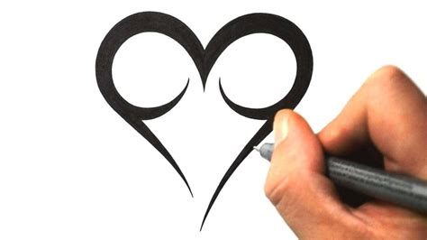 easy heart tattoo designs cool designs to draw studio design gallery