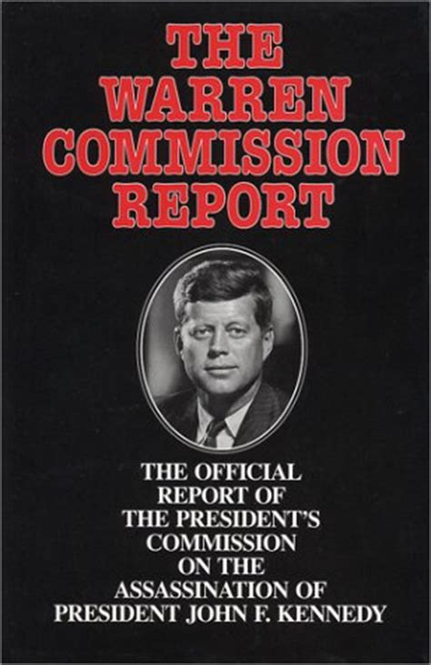 warren report book cover warren commission report