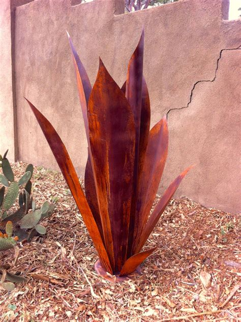 massive agave ready for tequila metal yard art metal