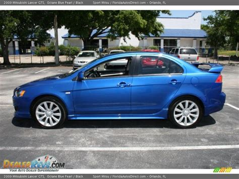 blue mitsubishi lancer 2009 mitsubishi lancer gts octane blue pearl black photo