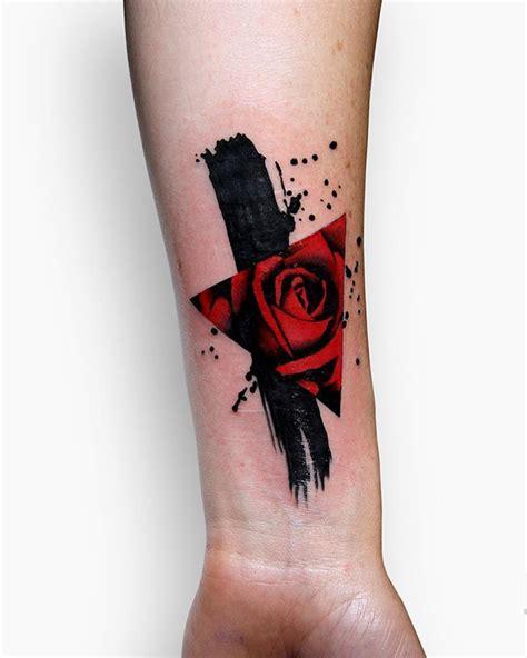 minimalist tattoo cover up 35 cute triangle glyph tattoos nenuno creative