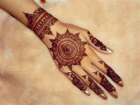 henna design round round tikki style simple mehndi designs 2016