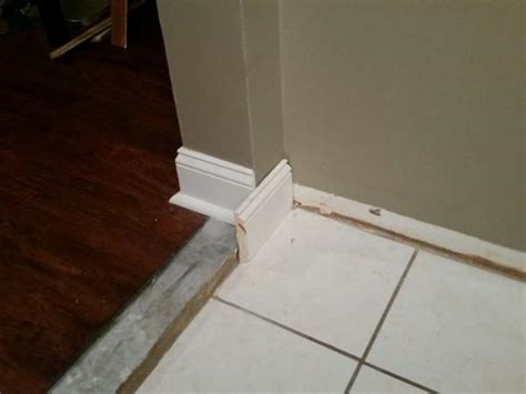 Baseboard Different Floor Heights by Transition Baseboards Across Different Floor Levels 1 5in