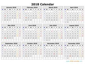 2018 Calendar Starting Monday Printable 2018 Calendar