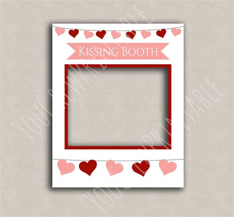 valentines picture frames booth printable diy frame photo booth frame