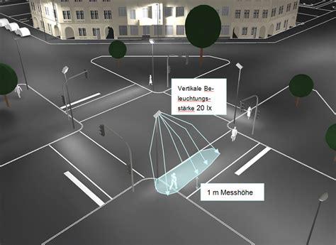 beleuchtung zebrastreifen verkehrsforschungsprojekt beleuchtung und sicherheit fgs