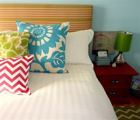 colorful headboard almost free create a bedroom you love on a budget the