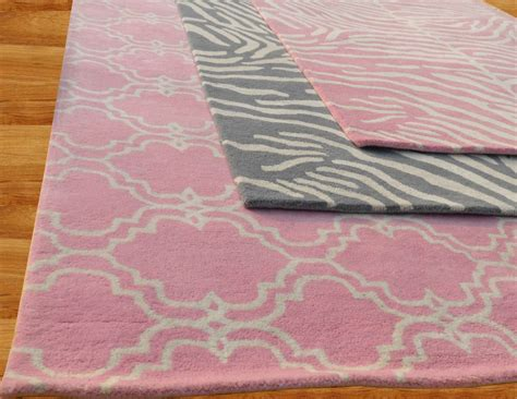 Pink Area Rug 5x8 by Zebra Pink 5x8 Handmade Style Woolen Area Rug
